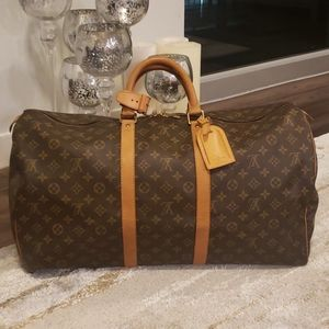 ❤KEEPALL 55❤ Authentic Louis Vuitton Travel Bag